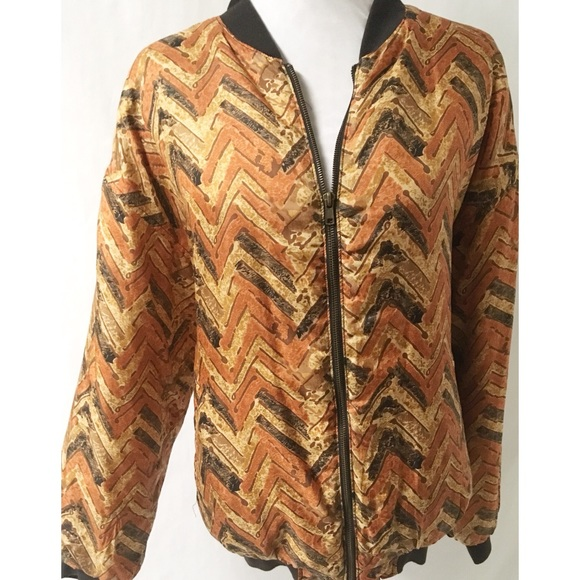 Casual Corner Jackets & Blazers - Orange & Black Vintage Jacket Size Large